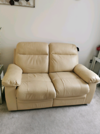 2 x 2 leather reclining sofas