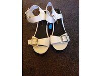Brand new ladies white sandals