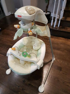 Fisher Price Baby Swing. Papasan Cradle.