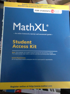 NEVER USED- 12 Month MathXl student access kit