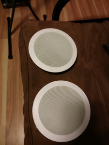 Theater solutions 5.25 inch ceiling speakers (two)