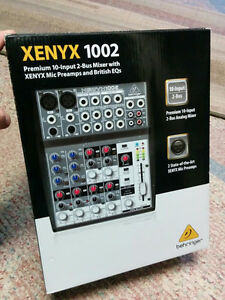 XENYX 1002 Premium 10-input 2-Bus Mixer with Preamps and EQs