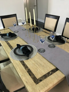 Marble Dining Set for sale
