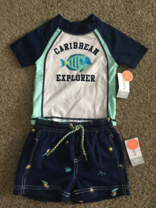 Carters 12 month baby boy swim set - Brand new with tags