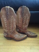 Women's boulet leather western boots