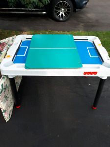 Fischer price air hockey, pool and ping pong