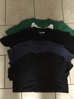 Size M mens T-shirts 2 Organic cotton by Raw, Quicksilver etc