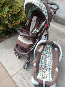 Graco baby stroller and carrying car seat