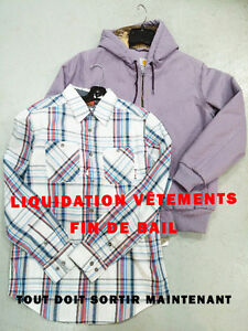 **** URGENT *** LIQUIDATION VETEMENTS  //  FIN DE BAIL ****
