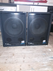 "ohm rws 15"" 300w sub bass bins speakers & kam kxr300 amplifier swap"