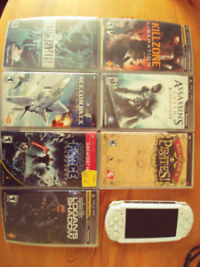 Psp and games assorted. Details in post. 50 obo