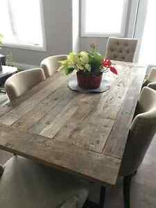 One-of-a-kind restored wood/iron table from Restoration Hardware