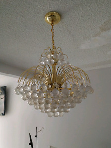 Beautiful gold crystal chandelier