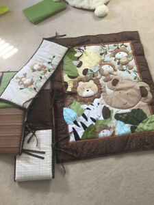safari theme crib bedding set