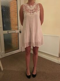 Brand new white dress with top detail size 8-10