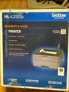 Brother HL-L2320D Monochrome Laser Printer With Duplex Printing,