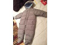 """Baby Snowsuit Spanish Baby Designer Brand """"Gocco"""" 9-12months"""