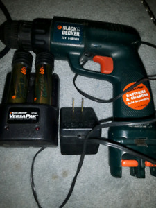 CORDLESS 7.2V DRILL & VERSA PAK GOLD BATTERY & CHARGER