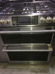 "30"" SS dual fuel with double oven Range GE Cafe $2200"