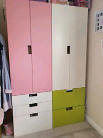 Ikea childrens wardrobes/drawers