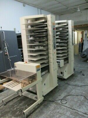 Cp Bourg - 2 X 10 Station Air Tower Collator Stacker