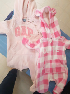 Newborn and 0-3 month GAP one pieces