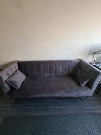 Brand New dark grey velvet sofabed