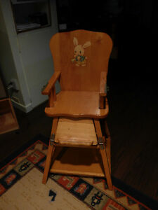 Antique (1955) baby high-chair and play-seat