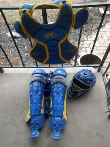 Catchers gear Rawlings Under Armour great quality