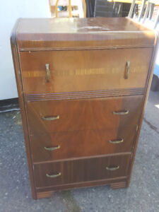 1940s Waterfall Tall Chest
