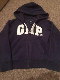 Girls gap zip hoodie age 10-11