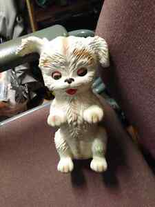 Vintage toy dog with squeaker.
