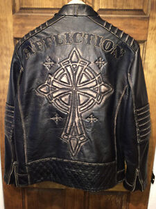 AFFLICTION LEATHER JACKET XL Gatineau Ottawa / Gatineau Area image 1