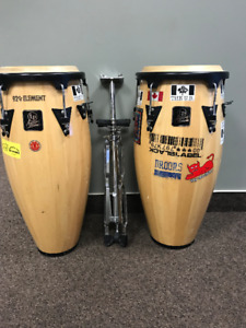 LP Aspire Congas with Stand