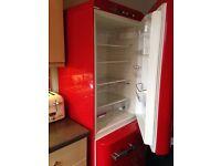 Smeg fridge freezer red
