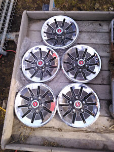 Ford Mag style wheel cover hubcaps x 4 1970's