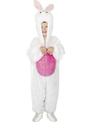 Childs Bunny Rabbit Costume Easter Mascot Plush Furry Jumpsuit Boys Girls Kids (Furry Costumes For Girls)