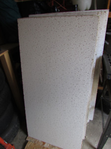 Used 2'x4' Drop Ceiling Tiles and some Ceiling Grids. $60