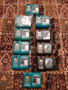 10 Makita chargers for sale!!