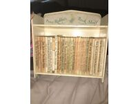 Original Beatrix Potter's Peter Rabbit RARE collectors bookshelf and books