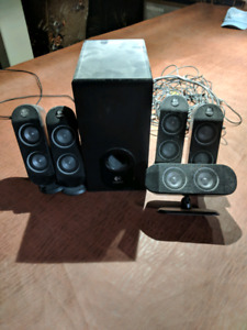 Surround sound speakers with bass
