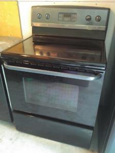 Set of Three Black Frigidaire Gallery Appliances