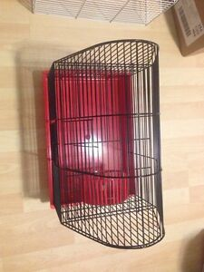 Mice or hamster or any small pet in two level cage w wheel