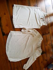 2 maternity shirts size small