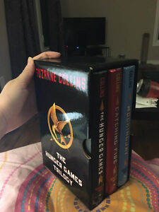 hardcover Hunger games series in perfect condition
