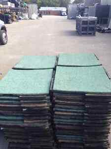 "Pre-Owned Rubber Tiles 24""x24"" x2"" Thick Great For Gym Floor!"