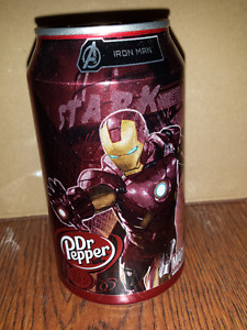Dr. Pepper Marvel Avengers Pop Cans (Iron Man & Thor)