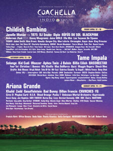 TWO Coachella 2019 Weekend 2 festival and shuttle passes