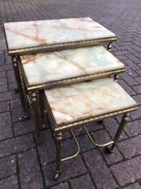 Marble Top Nest of Tables