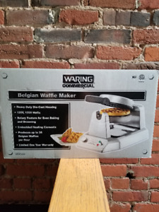 100% NEW WARING WAFFLE MAKERS & ICE CREAM MAKER 4 SALE